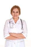 Beautiful old Caucasian nurse is Stock Images
