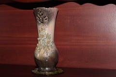 Beautiful old ceramic flower vase stock photography