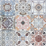 Beautiful old ceramic tile wall patterns in the park Royalty Free Stock Photography