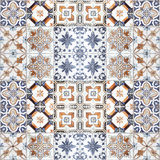 Beautiful old ceramic tiles patterns in the park Royalty Free Stock Photography
