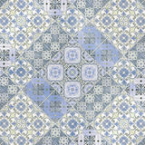 Beautiful old ceramic tiles patterns in the park public. Stock Images