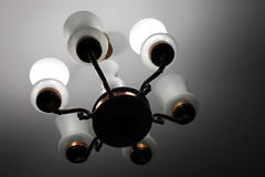 Beautiful old chandelier in the house Stock Photography