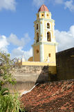 Beautiful old church in the colonial town of Trinidad Stock Photo