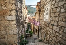Beautiful old city on adriatic coast. stock photography