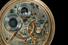 Beautiful old clock machine stock photo