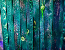 Beautiful old colorful wooden fence Stock Image