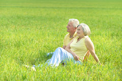 Beautiful old couple Stock Photography