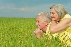 Beautiful old couple Stock Image