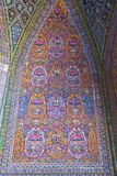 Beautiful old decorated painting mosaic on the wall of Pink mosque,Iran Stock Photo