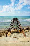 Beautiful old dock on sea Stock Photos