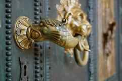 Beautiful old door knocker Royalty Free Stock Images