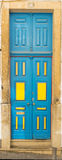 Beautiful old door in Lisbon near Castle of St George Royalty Free Stock Photography