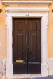 Beautiful old door in Lisbon near Castle of St George Royalty Free Stock Photo