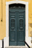 Beautiful old door in Lisbon near Castle of St George Royalty Free Stock Image