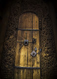 Beautiful old door to the church royalty free stock image