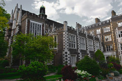 Beautiful old Elizabethan hall / mansion in twilight, Middle Temple Hall, London royalty free stock images