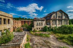 Beautiful old factory building, fabulous background Stock Images