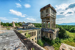 Beautiful old factory building, seen from above Stock Photo