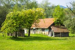 Old farmhouse in Ukraine Royalty Free Stock Photography