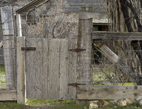 Beautiful old gate and fence Royalty Free Stock Photo