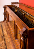 Beautiful old German piano. Piano detail of an old German piano Stock Image
