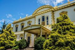 Beautiful Old Government building in New Zealand. stock photo
