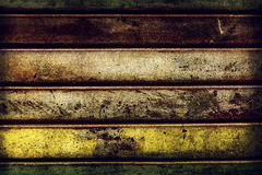 Beautiful old grunge rusty metal stripes texture. Horizontal. Co Royalty Free Stock Images