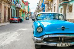 Beautiful Old havana. Mythical Old Havana in Cuba, architecture Royalty Free Stock Photos