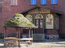 Old home and arbor, Lithuania Stock Image
