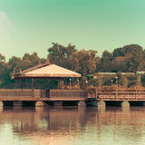 Beautiful Old home raft. River side Stock Images