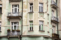 Beautiful old house with balconies Stock Photos