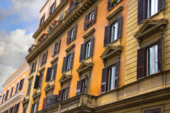 Beautiful old house with balcony in Rome, Italy. Beautiful house  in Rome, Italy Stock Photos