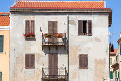 Beautiful old house facade in Italy Stock Photo