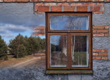 Beautiful old house with guiding the way to the mysterious fores Royalty Free Stock Image