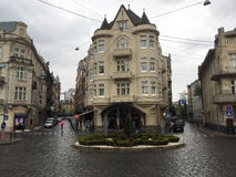 Beautiful old house in Lviv Royalty Free Stock Photo