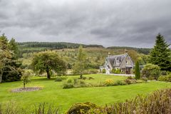 Beautiful old house in scotland with nice garden Stock Images