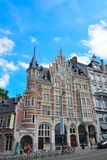Beautiful old house: in the streets of Brussels Stock Image