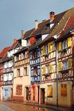 Beautiful old houses in downtown Colmar, France Stock Images