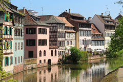 Beautiful old houses in downtown Strasbourg, France Stock Photo