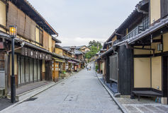 Beautiful old houses in Ninen-zaka street, Kyoto, Japan. Royalty Free Stock Photography