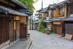Beautiful old houses in Ninen-zaka street, Kyoto, Japan. Stock Image