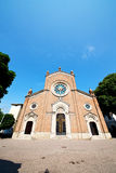 Beautiful old  in italy europe milan religion    and sunlight Stock Photography