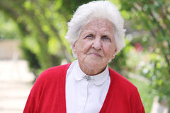 Beautiful old lady. Beautiful portrait of an elderly lady looking at the camera Stock Photos