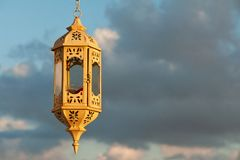 Beautiful old lantern over the blue sky Royalty Free Stock Images