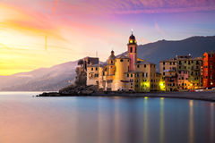 Beautiful Old Mediterranean Town at the sinrise time Royalty Free Stock Photo