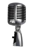 Beautiful old microphone. On a white background Royalty Free Stock Image