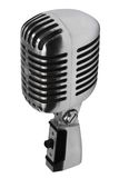 Beautiful old microphone. On a white background Royalty Free Stock Photography