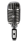 Beautiful old microphone. On a white background Royalty Free Stock Images