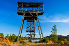 Beautiful old mine tower in Spain. Royalty Free Stock Images