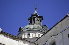 Beautiful Old Monastery of the Carmelites of Barefoot. Close up stock photography
